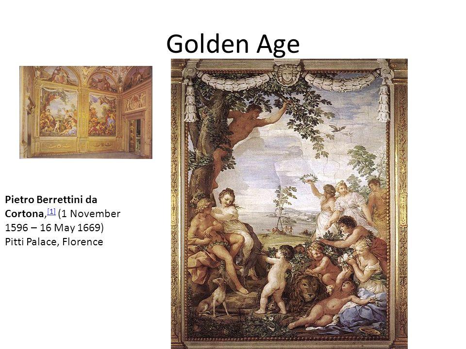 Golden Age Pietro Berrettini da Cortona,[1] (1 November 1596 – 16 May 1669) Pitti Palace, Florence